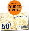 Concours gratuits : SPÉCIAL HALLOWEEN : Une carte-cadeau de 50 $ Cinémas Cineplex